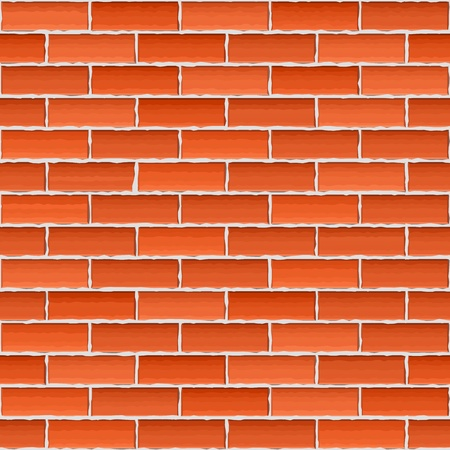 Old brown brick wall, seamless background Stock Vector - 16030955