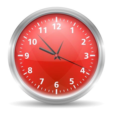 orologio da parete: Orologio rosso