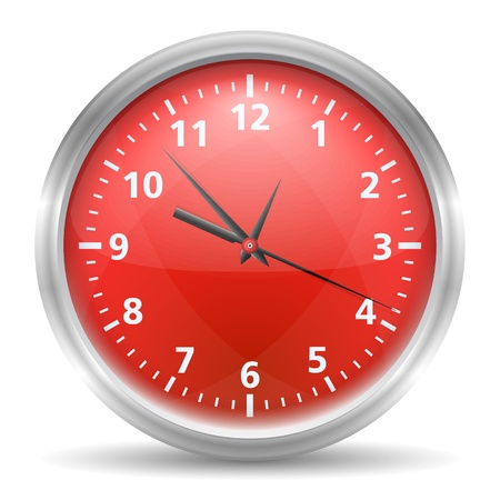 Red clock Stock Vector - 16030962