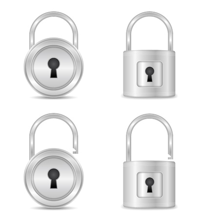 key hole: Open and closed locks