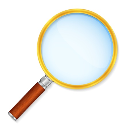 loupe: Magnifying glass Illustration