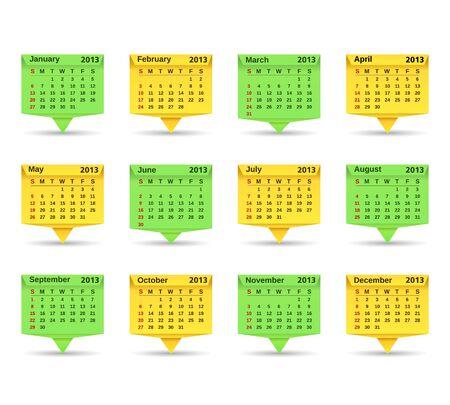 2013 Calendar, Origami style Stock Vector - 16170239