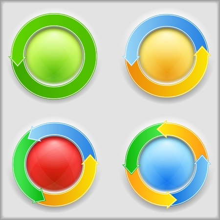 circle arrow: Round buttons with arrows
