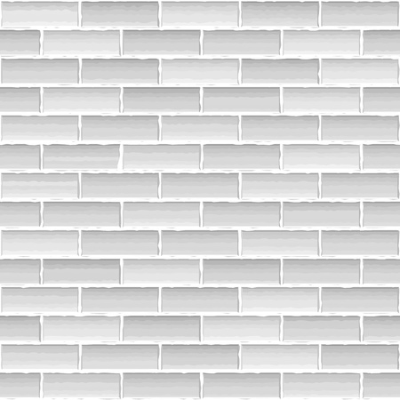 Old white brick wall Stock Vector - 16170229