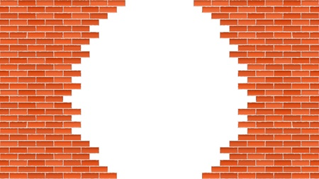 Broken brick wall Stock Vector - 16279033