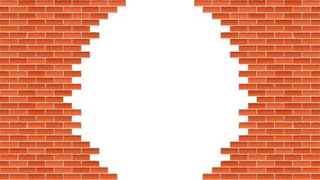 brickwall: Pared de ladrillos rotos