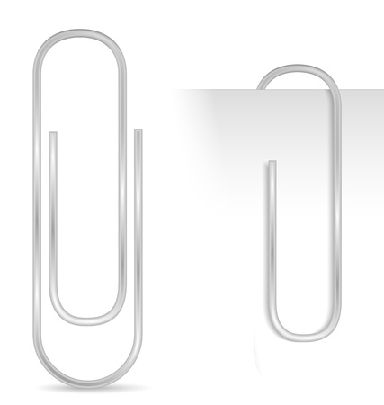 clipe de papel: Clipe de papel Ilustra��o