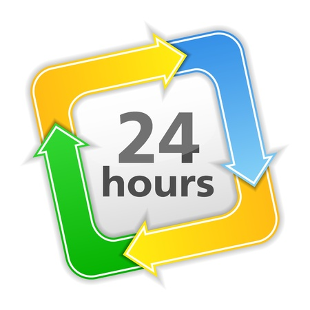 24 hours icon Vector