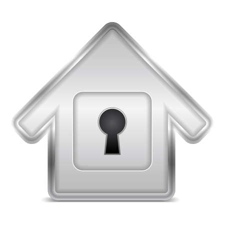 Icon of a house with keyhole Vector
