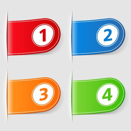 Set of tabs with numbers Stock Vector - 16279024