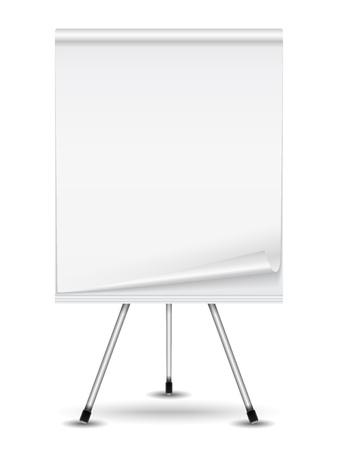 whiteboard: Flip-over Stock Illustratie