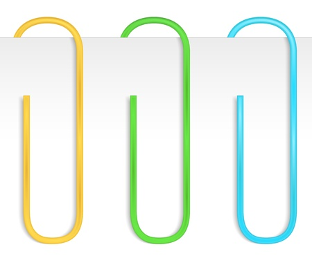 paperclip: Colored paper clips