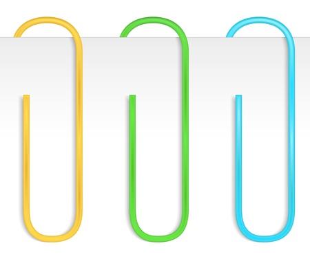 attach: Colored paper clips