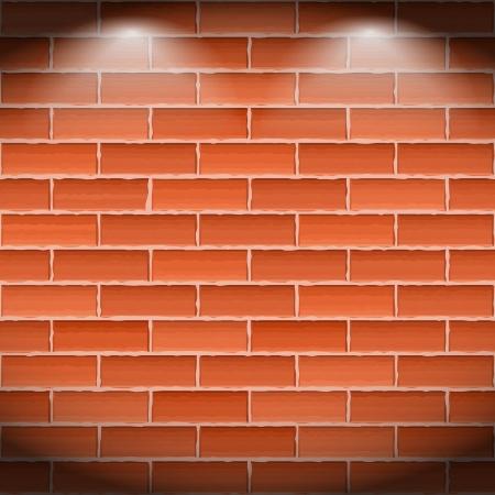 Brown brick wall Stock Vector - 16504771
