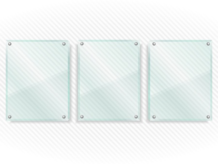 Transparent glass boards on striped background Stock Vector - 16504789