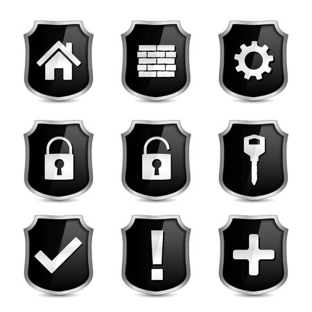 Security icons Stock Vector - 16504759