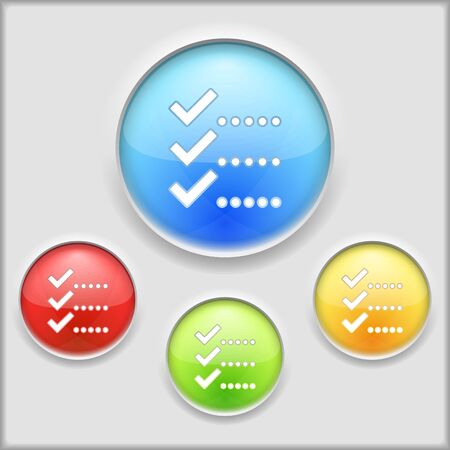 Abstract icon of check list Vector