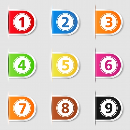 Set of tabs with numbers Stock Vector - 16613271