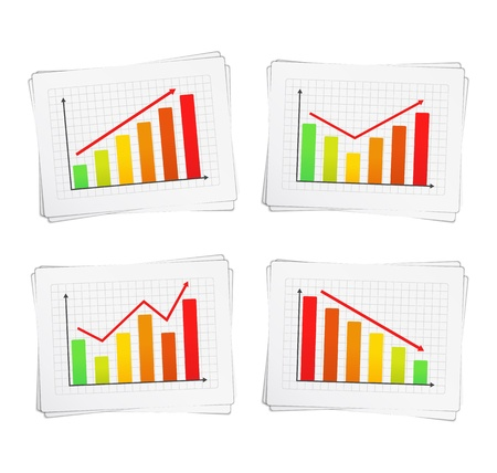 Different charts with arrows Stock Vector - 16760003