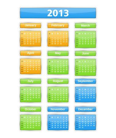 2013 Calendar Stock Vector - 16759995