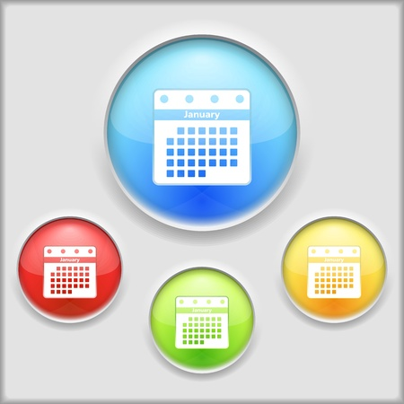 Abstract icon of a calendar Vector