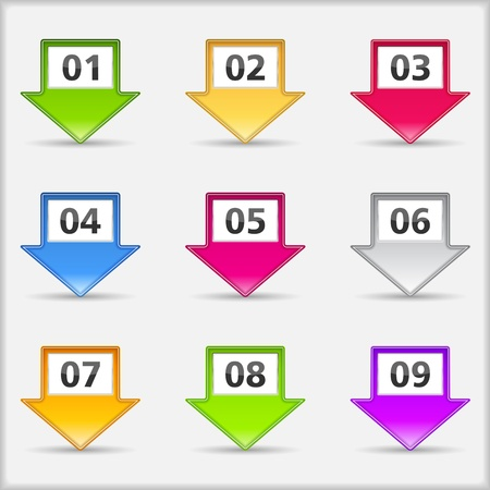 Arrows with numbers Stock Vector - 16858408