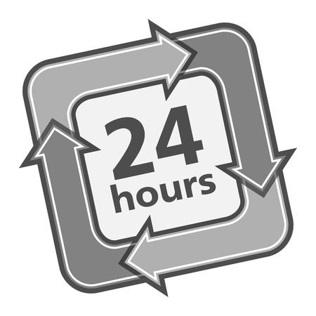 twenty four hours: 24 Hours Badge Illustration