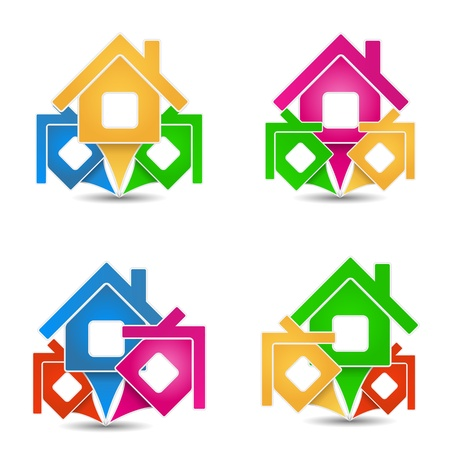 House Icons Stock Vector - 16858406