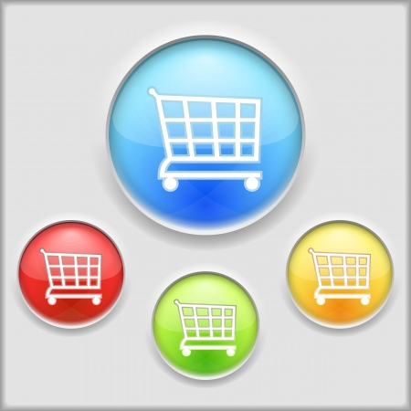 Abstract icon of a shopping cart Vector