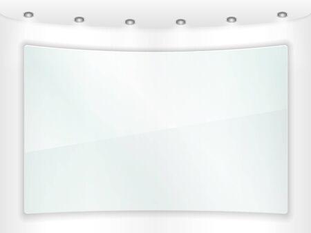 Transparent glass frame Stock Vector - 17102195