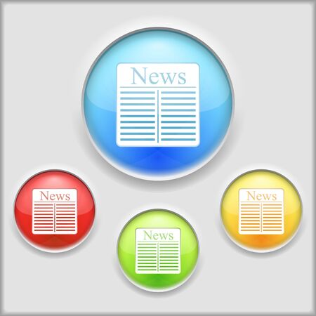 Abstract icon of newspaper Vector