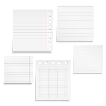 Notebook Paper Stock Vector - 17102113