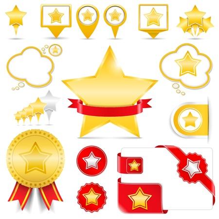 star rating: Elementi di design con le stelle