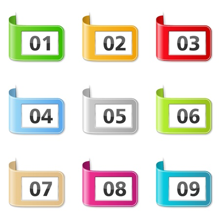 Ribbons with Numbers Stock Vector - 17102120