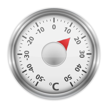 celsius: Round thermometer
