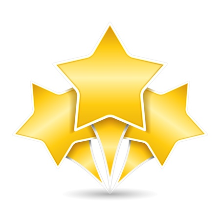 travel star: Three golden stars Illustration