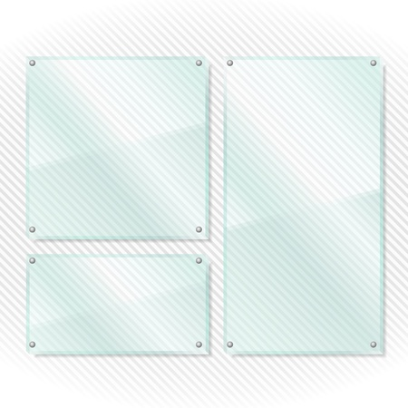 Transparent glass frames on white background Stock Vector - 17149919