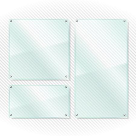 Transparent glass frames on white background Stock Vector - 17149919