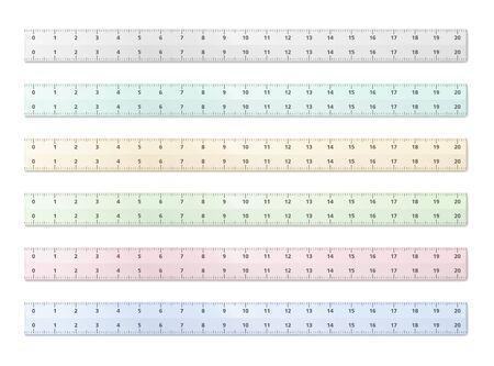 cm: Transparent plastic rulers
