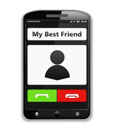 calling on phone: Modern black smart phone with toch screen