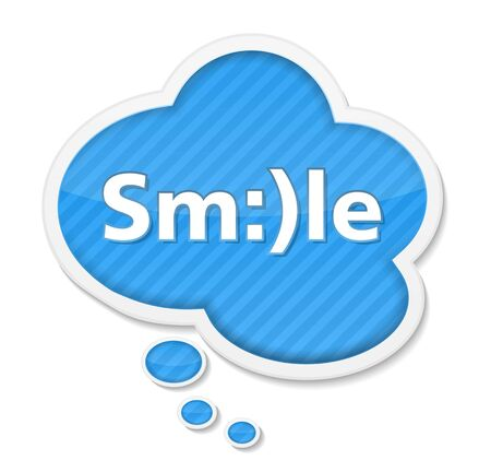 Speech bubble with smile Vector