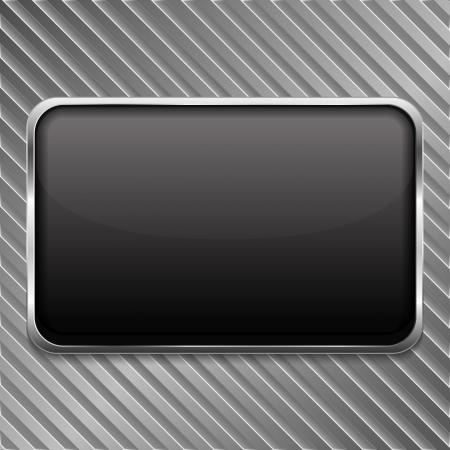 letrero: Estructura de metal sobre un fondo de rayas Vectores