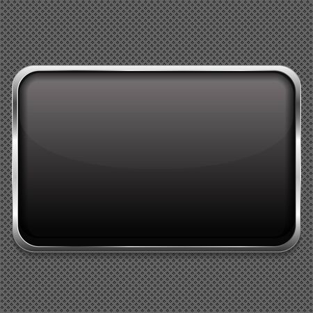 Blank frame on metal background Vector