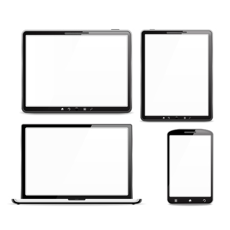 Mobile Devices Set Vector