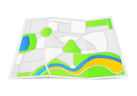Abstract map on a folded paper Stock Vector - 17389120