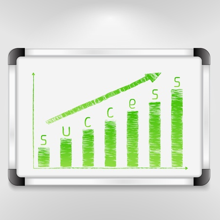 Graph of success Vector