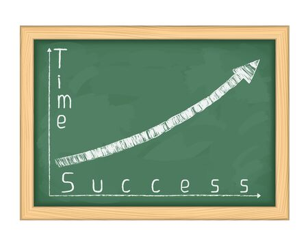 Blackboard with graph of success Vector