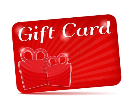 giftbox: Red gift card