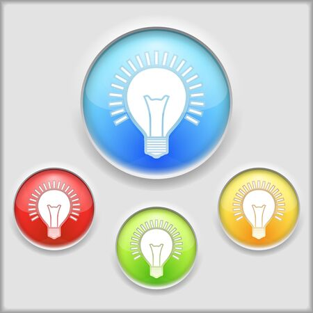 yellow bulb: Abstract icon of a bulb
