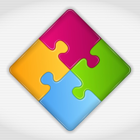 square logo: Abstract puzzle square Illustration
